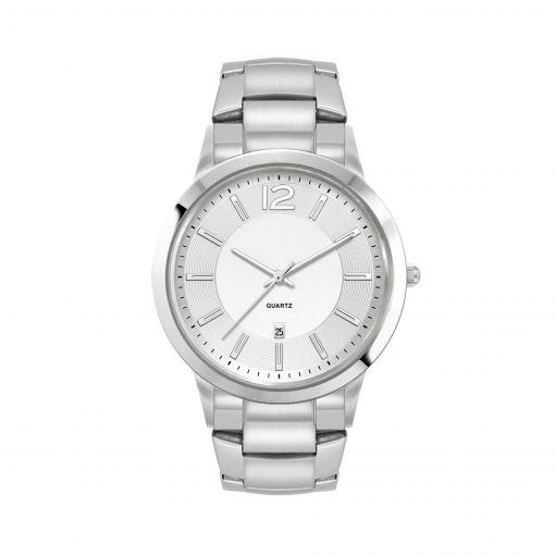 Men's Silver Stainless Steel 3 Hand Men's Silver Stainless Steel Case