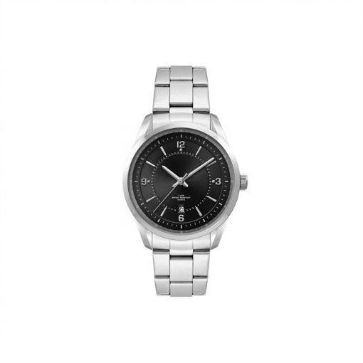 Ladies Black Dial 33mm Metal Case Ladies Black Dial 33mm Metal Case with Folded Steel Band