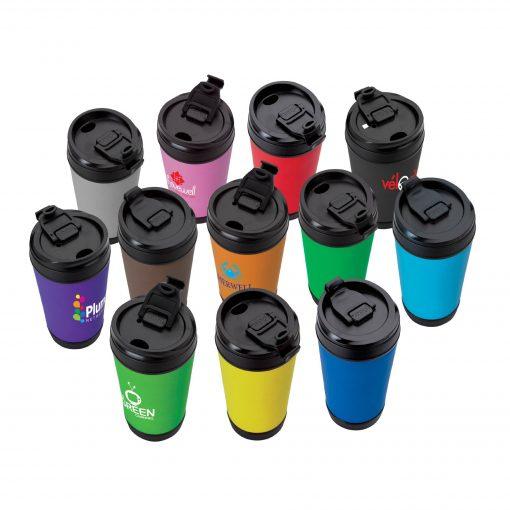 Perka Hibiscus IV 17 oz. Insulated Spill-Proof Mug