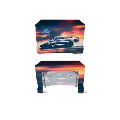DisplaySplash 4' Fitted Open Back Table Cover