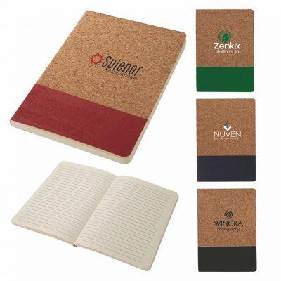Boardwalk Two-Tone Cork Junior Notebook