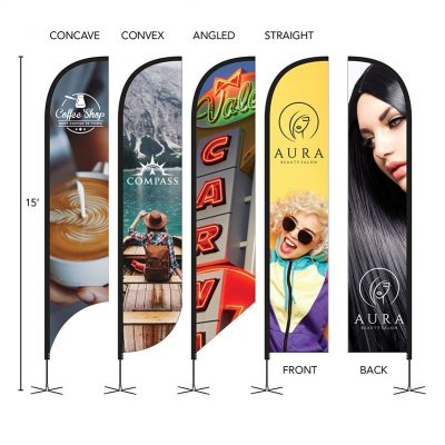 DisplaySplash 15' Double-Sided Custom Feather Flag
