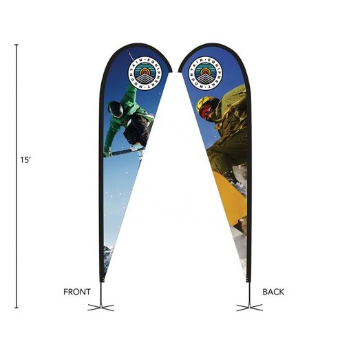 DisplaySplash 15' Double-Sided Custom Teardrop Flag