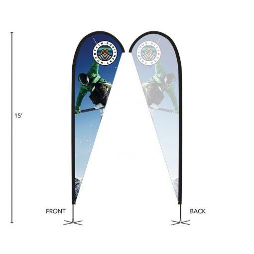 DisplaySplash 15' Single-Sided Custom Teardrop Flag