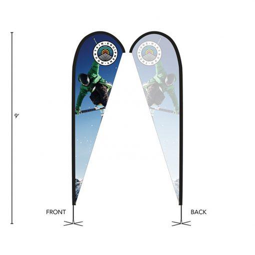 DisplaySplash 9' Single-Sided Custom Teardrop Flag