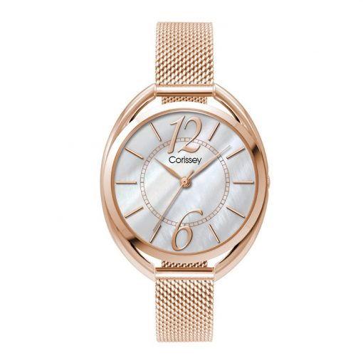 Wc3617 36mm Metal Oval Rose Gold Case