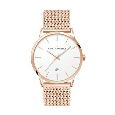 Wc8120 39mm Steel Rose Gold Case