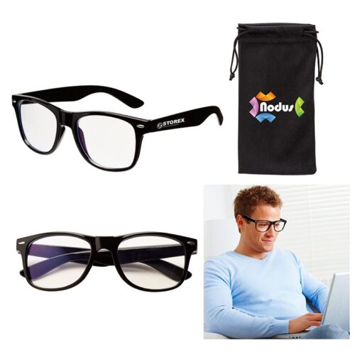 Edmond II Bluelight Blocking Glasses & Pouch