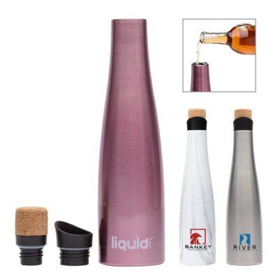 Liquid Fusion 25 oz. Vacuum Insulated Steel Wine Carafe / Bottle