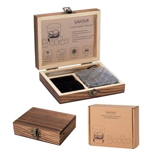 Savour 11-Piece Whiskey Stone Set